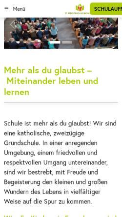 Vorschau der mobilen Webseite www.st-mechthild-grundschule.de, St. Mechthild Grundschule Magdeburg