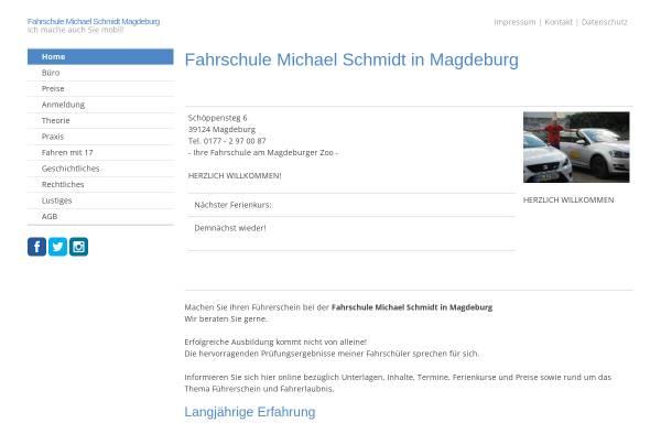 Vorschau von www.fahrschule-michael-schmidt.de, Fahrschule Michael Schmidt