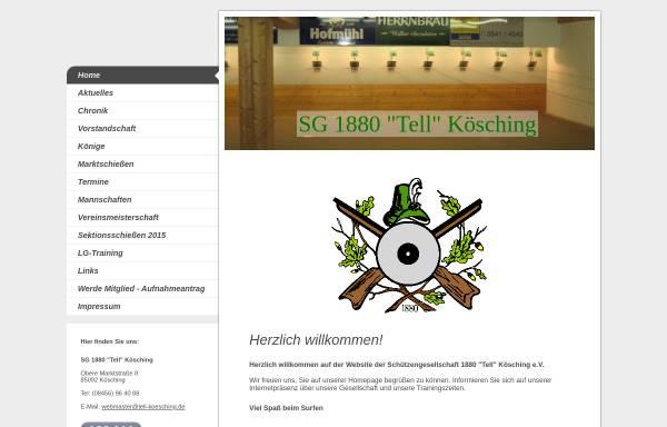 Vorschau von www.tell-koesching.de, Schützengesellschaft 1880 Tell Kösching e.V.