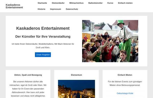 Vorschau von www.kaskaderos-entertainment.de, Kaskaderos Entertaiment Ingo Hoffmann