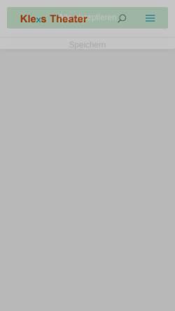 Vorschau der mobilen Webseite www.klexs-theater.de, Klexs Theater