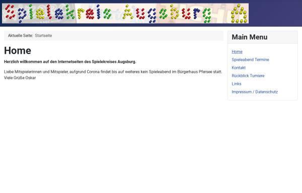 Vorschau von www.spielekreis-augsburg.de, Spielekreis Augsburg