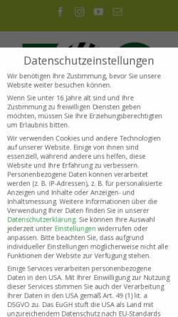 Vorschau der mobilen Webseite www.zoo-augsburg.de, Zoo Augsburg