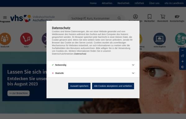 Vorschau von www.vhs-aschaffenburg.de, Volkshochschule Aschaffenburg