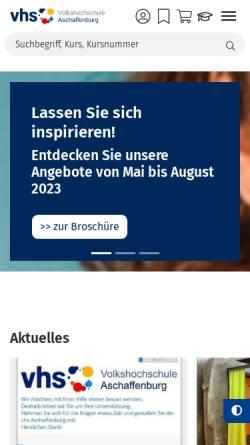 Vorschau der mobilen Webseite www.vhs-aschaffenburg.de, Volkshochschule Aschaffenburg