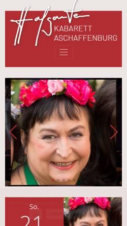 Vorschau der mobilen Webseite www.hofgarten-kabarett.de, Hofgarten Kabarett
