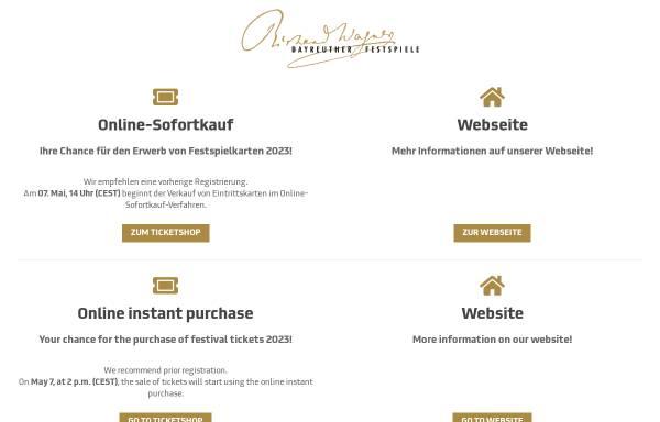 Vorschau von www.bayreuther-festspiele.de, Bayreuther Festspiele