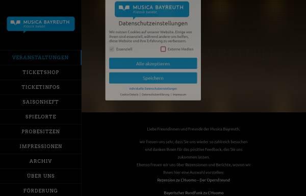 Vorschau von www.musica-bayreuth.de, Musica Bayreuth