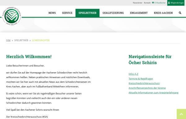 Vorschau von www.schiris-aachen.de, Kreisschiedsrichterausschuss Aachen