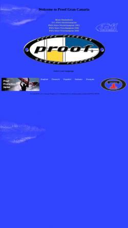 Vorschau der mobilen Webseite www.proofboard.com, Proof Gran Canaria S.L.