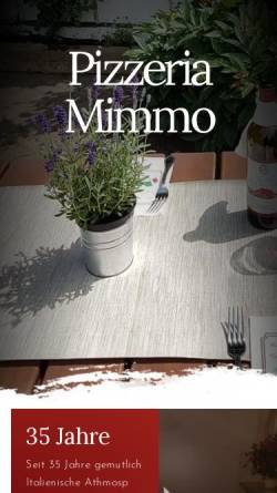 Vorschau der mobilen Webseite www.pizzeria-mimmo.de, Pizzeria Mimmo