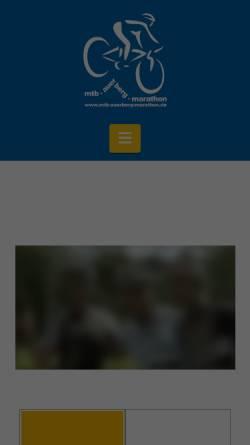 Vorschau der mobilen Webseite www.mtb-auerberg-marathon.de, mtb-auerberg-marathon
