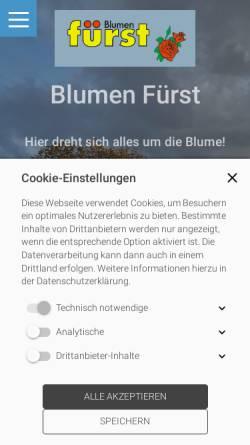 Vorschau der mobilen Webseite www.blumen-fuerst.de, Blumen Fürst