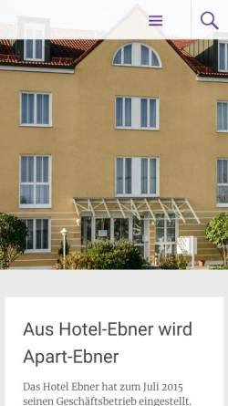 Vorschau der mobilen Webseite www.ebner-hotel.de, Hotel Ebner