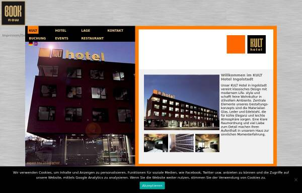 Vorschau von www.kult-hotel.de, Kult-Hotel - Ingolstadt