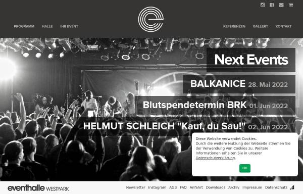 Vorschau von www.event-in.de, Hit That Events und Promotion