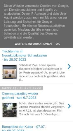Vorschau der mobilen Webseite www.regensburger-tagebuch.de, Regensburger Tagebuch