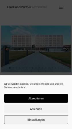 Vorschau der mobilen Webseite www.architektur-passau.de, Architekten Friedl und Partner