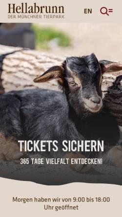 Vorschau der mobilen Webseite www.zoo-muenchen.de, Tierpark Hellabrunn