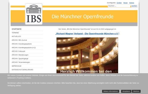 Vorschau von www.opernfreundemuenchen.de, Opernfreunde München