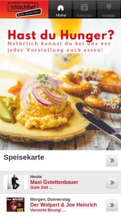 Vorschau der mobilen Webseite www.im-schlachthof.de, Wirtshaus im Schlachthof