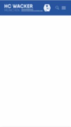 Vorschau der mobilen Webseite www.hcw.de, Hockey-Club Wacker e.V.