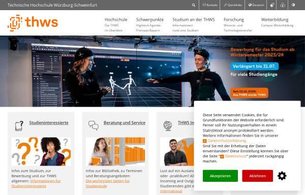Vorschau von www.fh-wuerzburg.de, FH Würzburg-Schweinfurt - Rechenzentrum der Abteilung Würzburg
