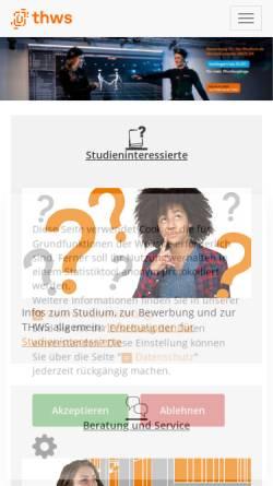Vorschau der mobilen Webseite www.fh-wuerzburg.de, Gesellschaft der Förderer und Freunde der Fachhochschule Würzburg-Schweinfurt e.V.