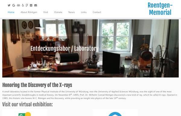 Vorschau von www.wilhelmconradroentgen.de, Röntgen-Gedächtnisstätte Würzburg