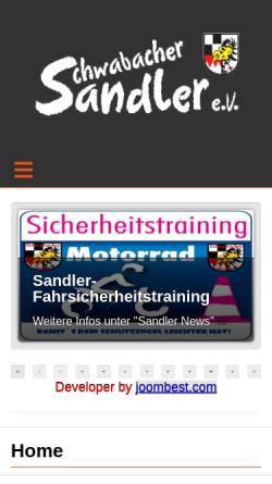 Vorschau der mobilen Webseite www.schwabacher-sandler.de, Motorradclub