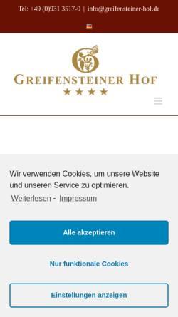 Vorschau der mobilen Webseite www.greifensteiner-hof.de, Hotel Greifenstein