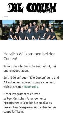 Vorschau der mobilen Webseite www.diecoolen.de, Die Coolen