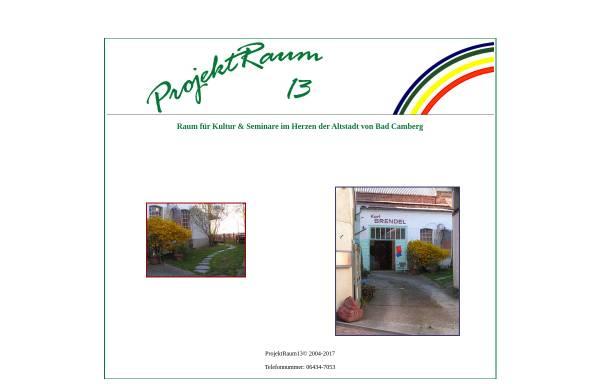 Vorschau von projektraum13.de, ProjektRaum13