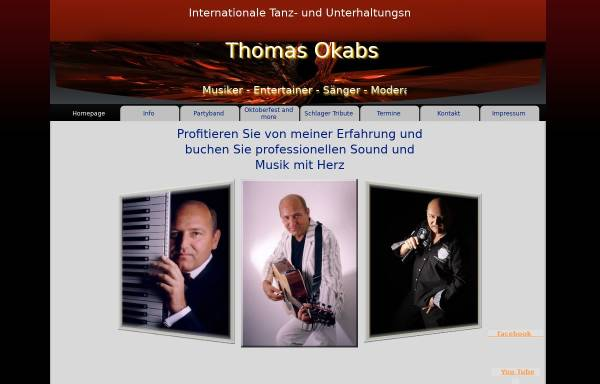 Vorschau von okabsa-musik.de, Thomas Okabsa Partyband