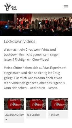 Vorschau der mobilen Webseite www.chorleitung.de, Ulrich Diehl - Chorleiter