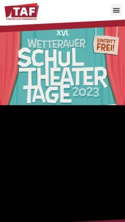 Vorschau der mobilen Webseite www.taf-badehaus2.de, Bad Nauheim, TAF - Theater Alte Feuerwache