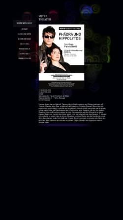 Vorschau der mobilen Webseite www.mitra-theater.de, Frankfurt, Mitra Theater