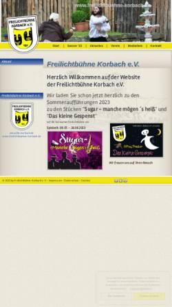 Vorschau der mobilen Webseite www.flb-korbach.de, Korbach, Freilichbühne