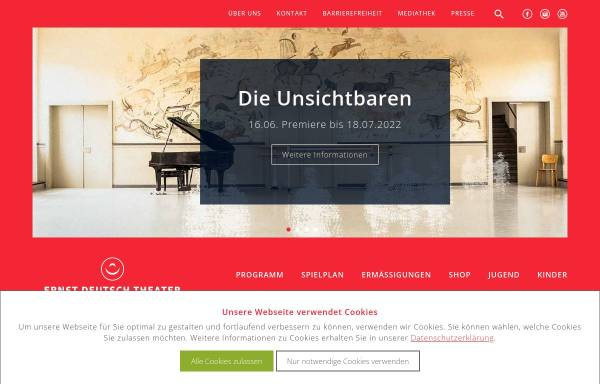 Vorschau von www.ernst-deutsch-theater.de, Ernst Deutsch Theater