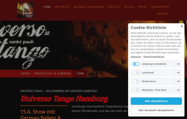 Vorschau von www.universotango.de, Universo Tango