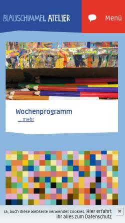 Vorschau der mobilen Webseite www.blauschimmel-atelier.de, Blauschimmel Atelier