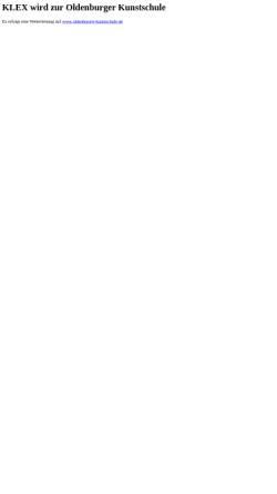 Vorschau der mobilen Webseite www.klex.de, Klex Kunstschule Oldenburg