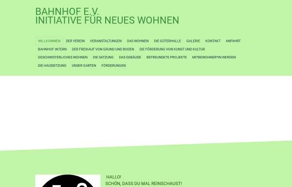 Wohnen Am Bahnhof initiative für neues wohnen bahnhof e v kultur ottersberg