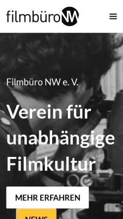 Vorschau der mobilen Webseite filmbuero-nw.de, Filmbüro NW
