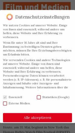 Vorschau der mobilen Webseite www.filmstiftung.de, Filmstiftung Nordrhein-Westfalen GmbH