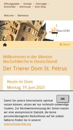 Vorschau der mobilen Webseite www.dominformation.de, Trierer Dom-Information