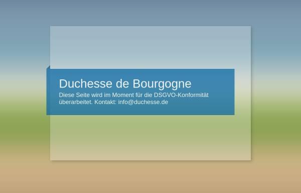 Vorschau von www.duchesse.de, Duchesse de Bourgogne