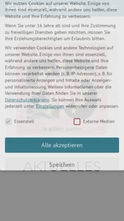 Vorschau der mobilen Webseite www.guildo-horn.com, Horn, Guildo