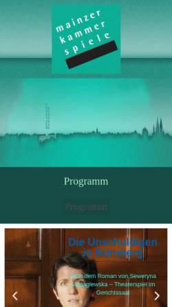Vorschau der mobilen Webseite www.mainzer-kammerspiele.de, Mainzer Kammerspiele