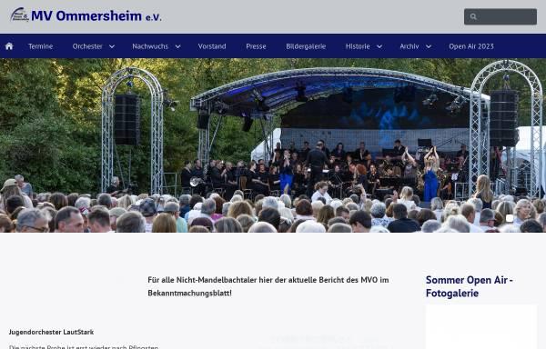 Vorschau von www.mvommersheim.de, MVO Musikverein Ommersheim e.V.